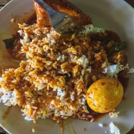 Rice, chicken, Egg