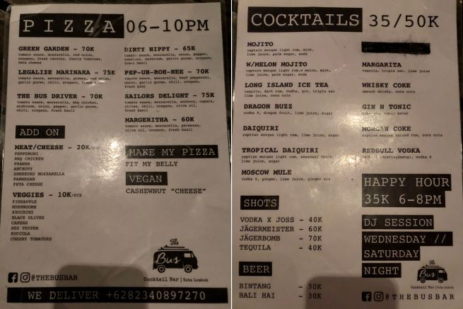 menu bus bar lombok whynotabroad